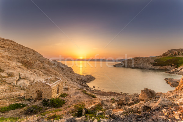 Sunrise at Ile Rouse in Corsica Stock photo © Joningall
