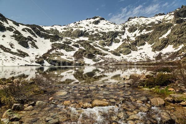 コルシカ島 頭 谷 水 雪 青 ストックフォト © Joningall