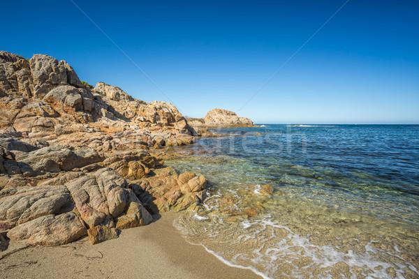 пляж север Корсика пород Сток-фото © Joningall