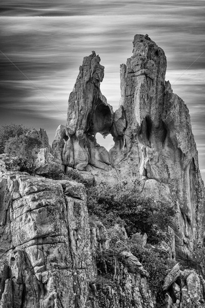 Trou Rock corse image roches ouest Photo stock © Joningall