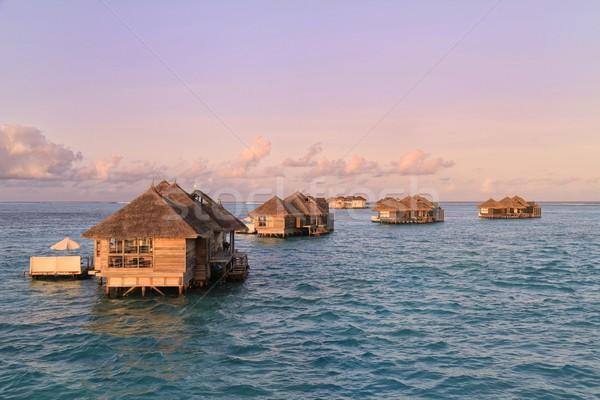 Water Villas at Gili Lankanfushi Stock photo © Joningall