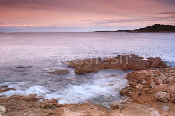 Kustlijn corsica rotsen regio hemel natuur Stockfoto © Joningall
