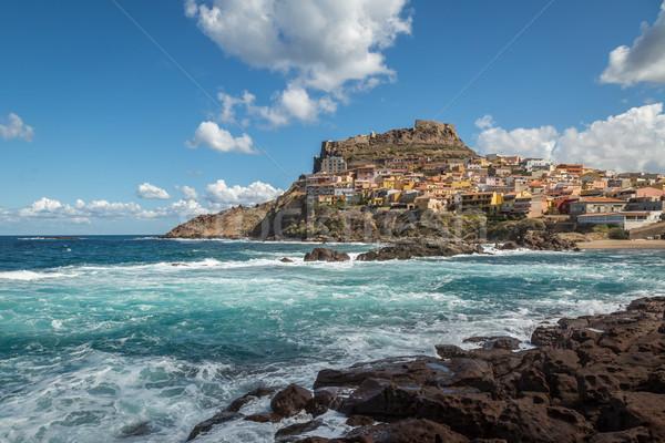 Castelsardo on northern coast of Sardinia Stock photo © Joningall