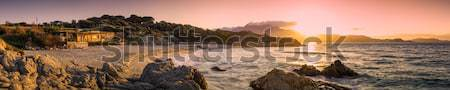 панорамный мнение Корсика закат пород передний план Сток-фото © Joningall