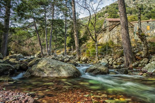 Сток-фото: реке · Корсика · горные · прошлое