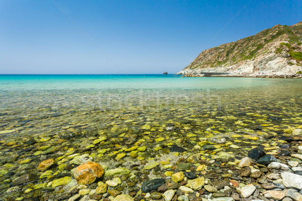 The beach at Giottani on west coast of Cap Corse Stock photo © Joningall