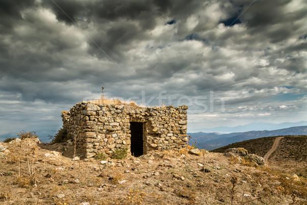 Foto stock: Oscuro · nubes · región · córcega · edad · colinas