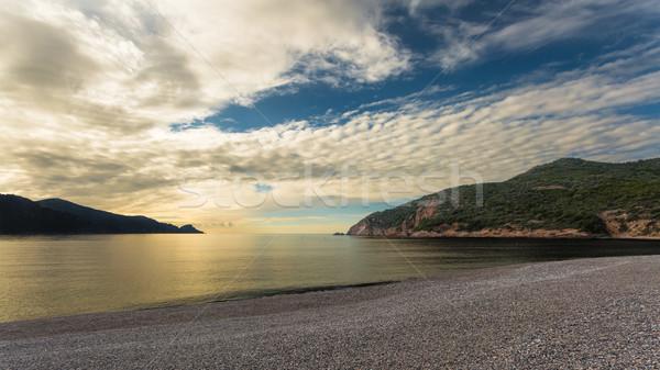 日没 ビーチ コルシカ島 太陽 ダウン 西 ストックフォト © Joningall