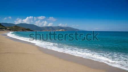Vagues plage corse or sable bleu Photo stock © Joningall