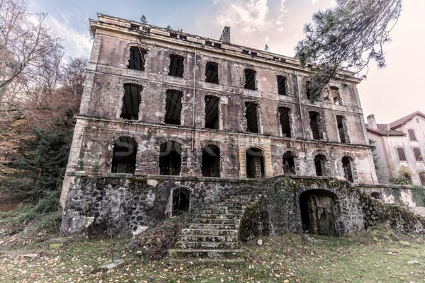 отель Корсика заброшенный дома каменные Сток-фото © Joningall