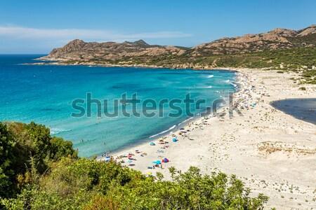 Ostriconi beach in Balagne region of Corsica Stock photo © Joningall