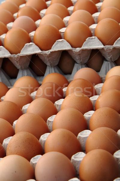 Frescos huevos agradable alimentos Pascua fondo Foto stock © jonnysek