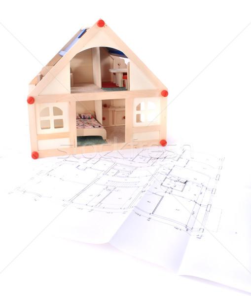 ストックフォト: 計画 · モデル · 家 · おもちゃ · 計画