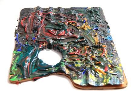 ストックフォト: 虹 · 金属 · 孤立した · 白 · 背景 · 緑