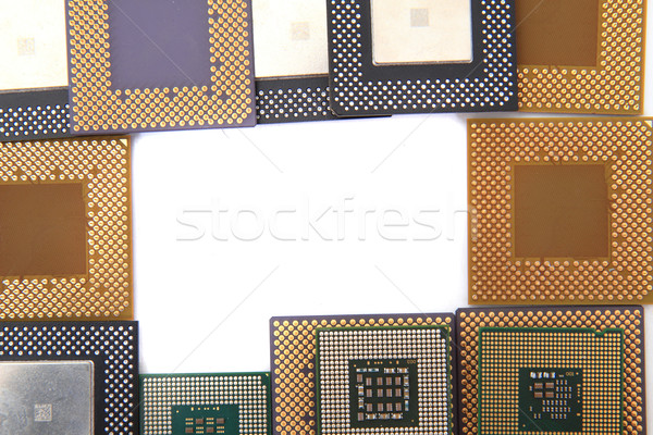 Cpu isolado branco computador tecnologia indústria Foto stock © jonnysek