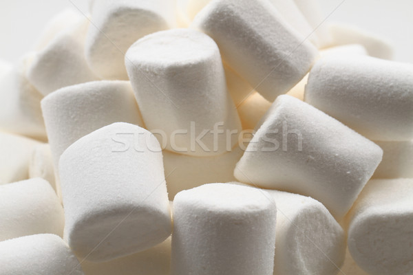 Stock photo: white marschmallows texture