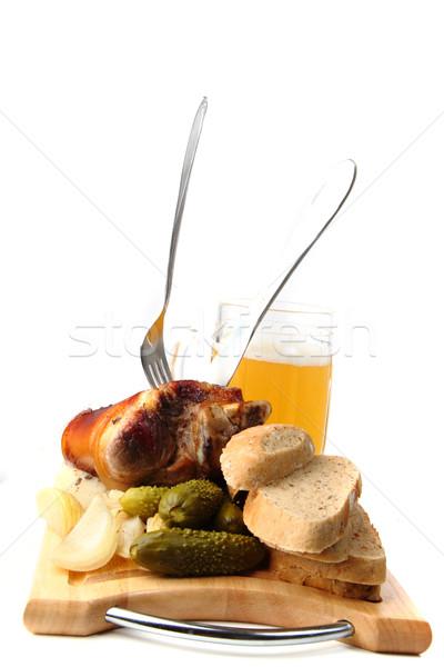 Roasted pork knuckle  Stock photo © jonnysek