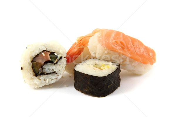 salmon sushi as gourmet food  Stock photo © jonnysek