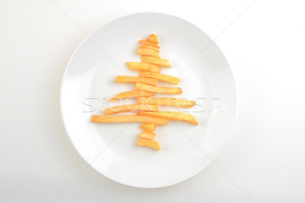 weihnachtsbaum kartoffeln isoliert wei essen. Black Bedroom Furniture Sets. Home Design Ideas