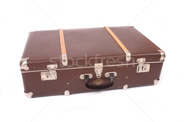 старые багаж коричневый белый путешествия сумку Сток-фото © jonnysek