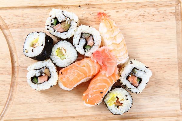 salmon sushi as gourmet food  Stock photo © jonnysek