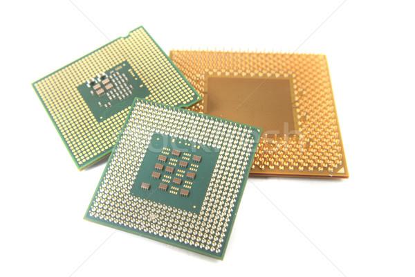 Oude geïsoleerd witte technologie achtergrond wetenschap Stockfoto © jonnysek