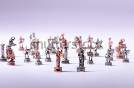 Satranç güzel el kale düşünme oyun Stok fotoğraf © jonnysek
