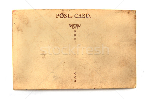 old empty postcard Stock photo © jonnysek