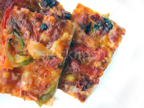 bulgarian pizza isolated Stock photo © jonnysek