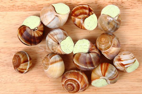 snails - french gourmet food Stock photo © jonnysek
