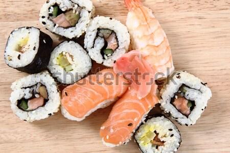 Geisha sushi aislado blanco peces japonés Foto stock © jonnysek