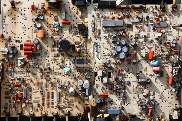 electronic garbage for recycling Stock photo © jonnysek