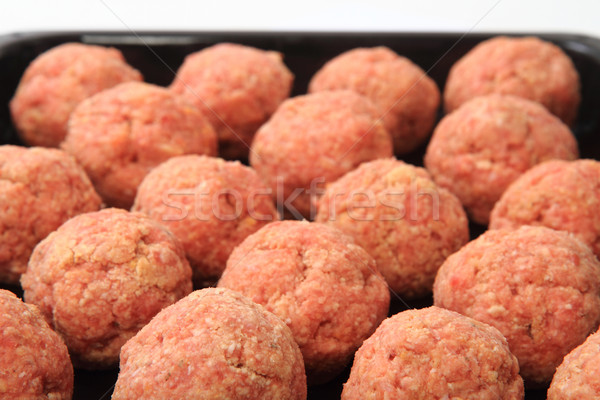 raw meatballs  Stock photo © jonnysek
