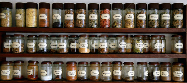 Przyprawy taca nice żywności żółty kultury Zdjęcia stock © jonnysek