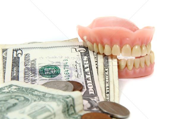 Dollars inflation isolé blanche papier groupe Photo stock © jonnysek
