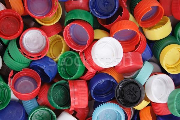 plastic cpas background Stock photo © jonnysek