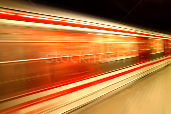 Prague subway Stock photo © jonnysek