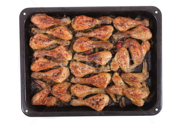 Pollo a la parrilla piernas agradable alimentos petróleo carne Foto stock © jonnysek