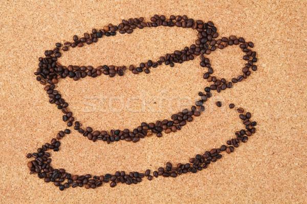 Кубок кофе Nice пить текстуры продовольствие Сток-фото © jonnysek
