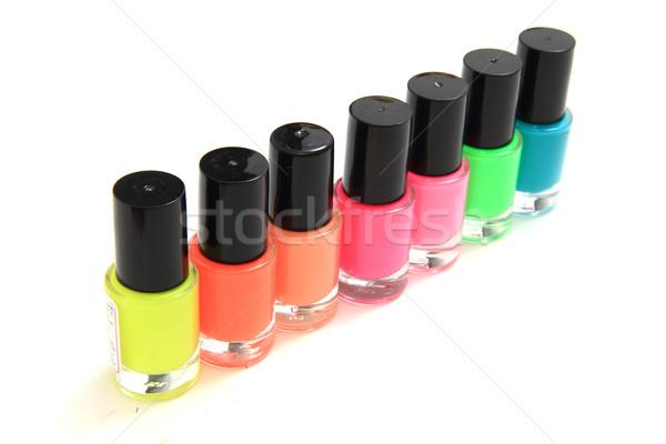 Kleur nagellak geïsoleerd witte schoonheid Rood Stockfoto © jonnysek