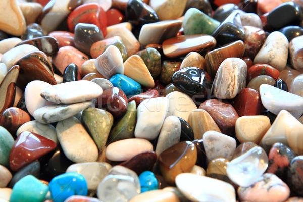Kleur natuurlijke edelstenen mineraal mode schoonheid Stockfoto © jonnysek