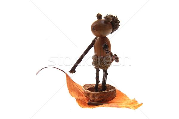 Сток-фото: желудь · игрушку · человека · изолированный · белый · продовольствие