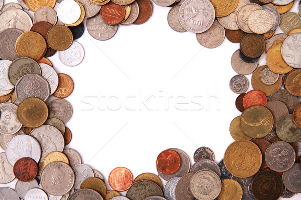 europe and world coins frame Stock photo © jonnysek