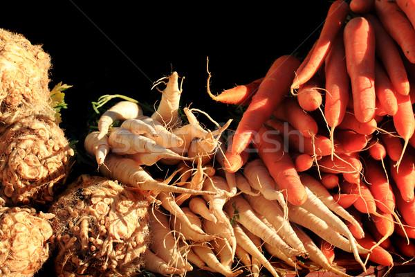Aipo cenoura fresco fazenda vegetal natureza Foto stock © jonnysek