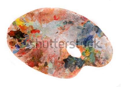 Farbe Palette isoliert weiß abstrakten malen Stock foto © jonnysek