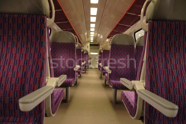 interior of train Stock photo © jonnysek