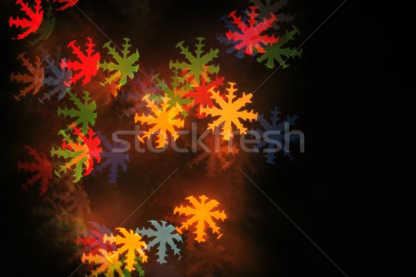 Natal cor luzes árvore festa Foto stock © jonnysek