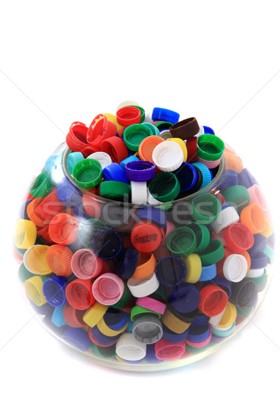 Stock photo: color plastic caps (from PET)
