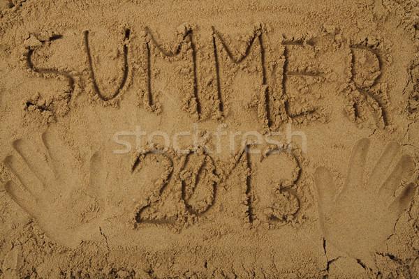 Estate 2013 mano nice sabbia spiaggia Foto d'archivio © jonnysek