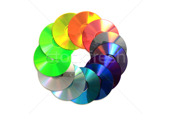 color CD and DVD Stock photo © jonnysek